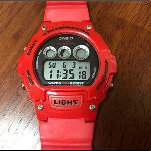 Red Casio Watch